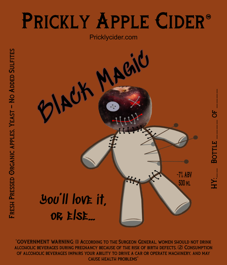 Black Magic Cider By Prickly Apple Cider