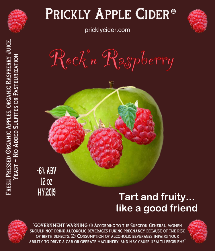 Rock'n Raspberry Cider By Prickly Apple Cider
