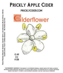 Elderflower Hard Cider By Prickly Apple Cider