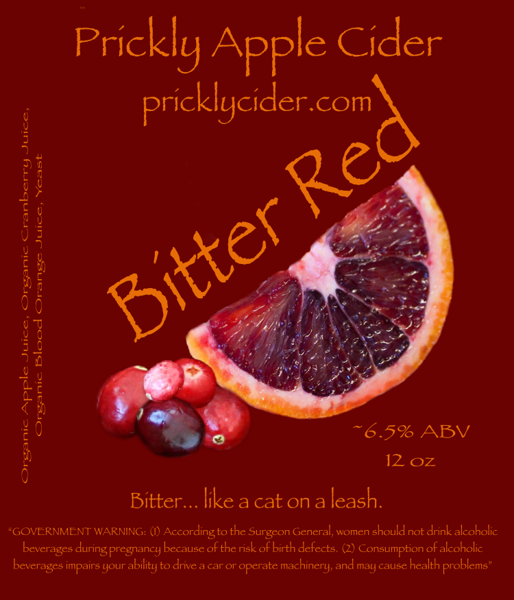 Bitter Red Cider By Prickly Apple Cider