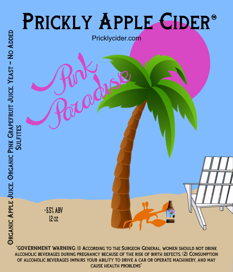 Pink Paradise Cider By Prickly Apple Cider