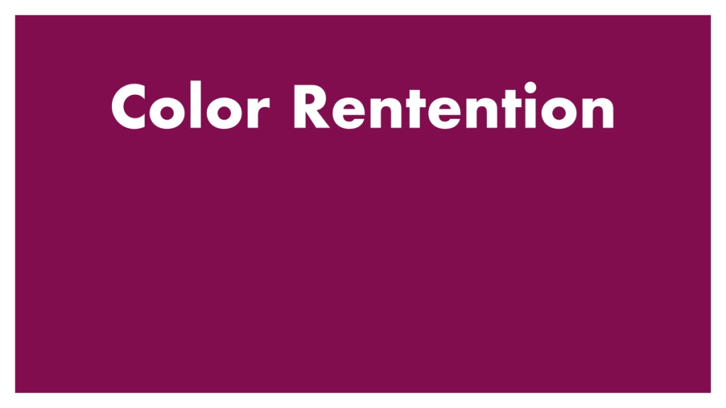Color Retention