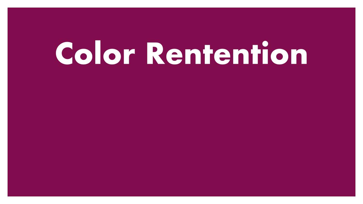 Color Retention
