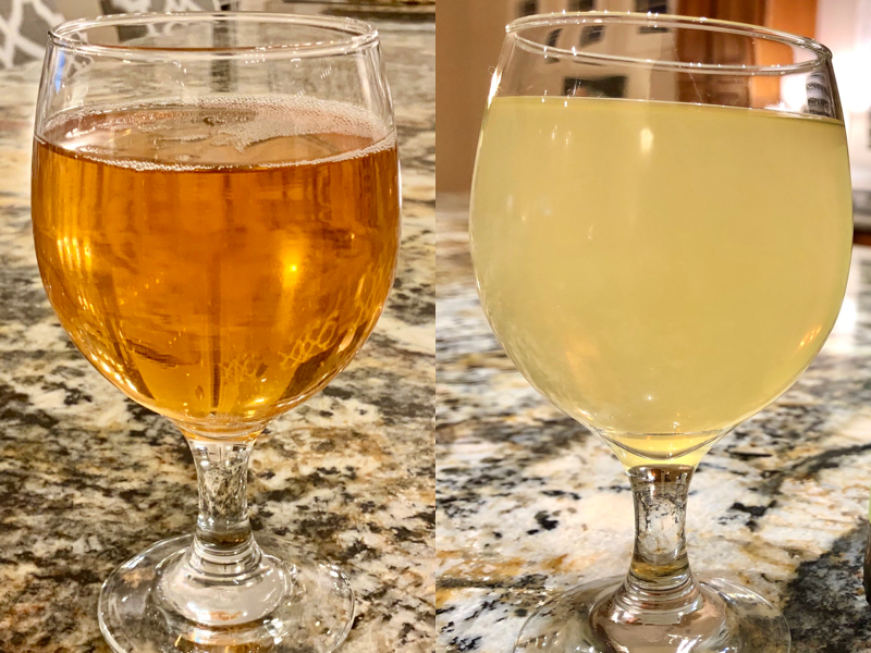 Clear and Cloudy Hard Cider