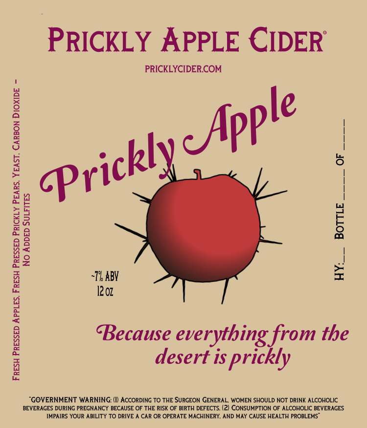 Prickly Apple Hard Cider - Hard Cider Made with Prickly Pear Juice