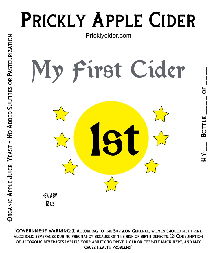 My First Hard Cider Label