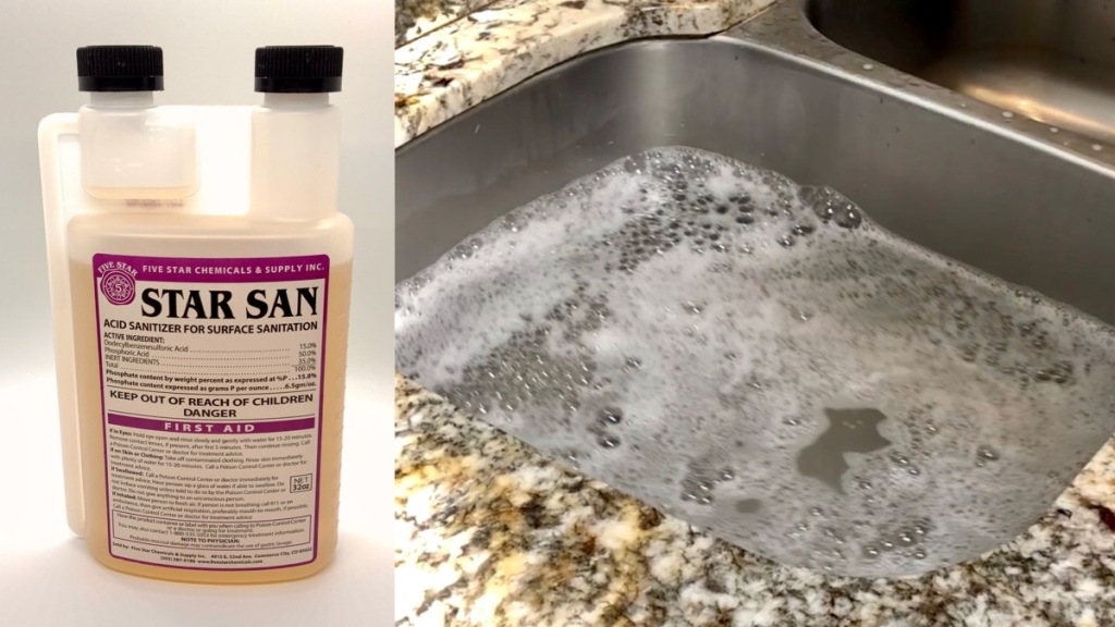 Sanitation Process: How to sanitize bottles for hard cider.