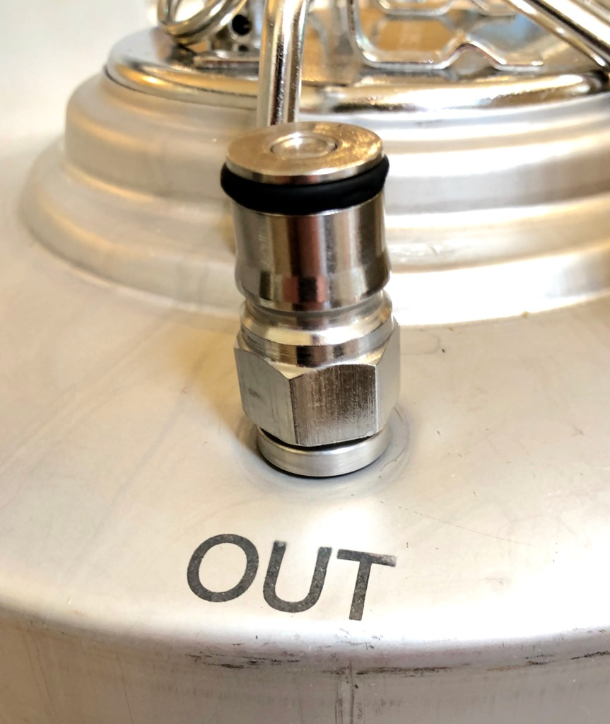 Out Port: Hard Cider Keg System (smooth wrench fitting)