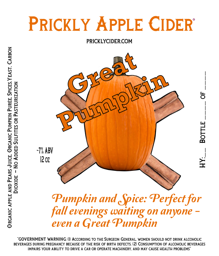 Great Pumpkin Hard Cider