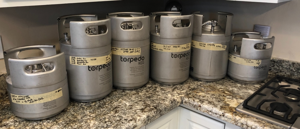 Torpedo Ball Lock Kegs : Ready for processing
