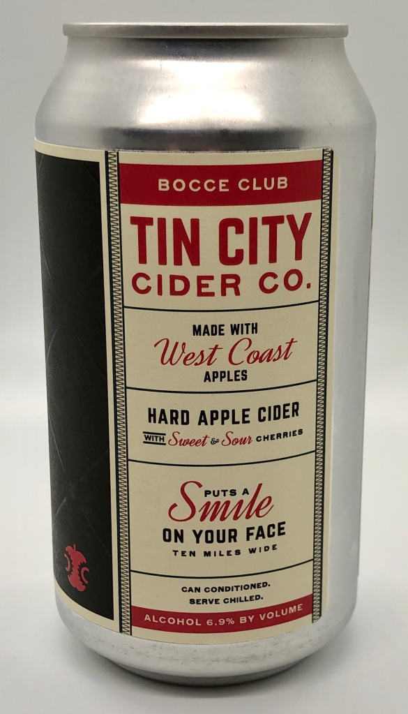 Bocce Club Hard Cider by Tin City Cider