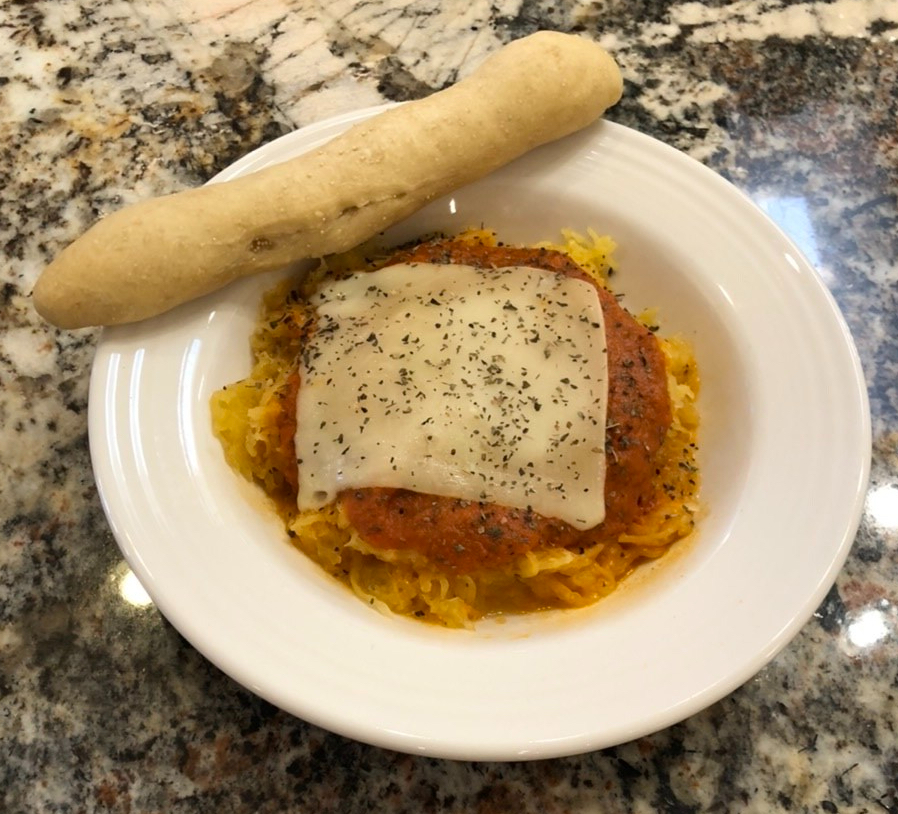Spaghetti Squash And Breadstick