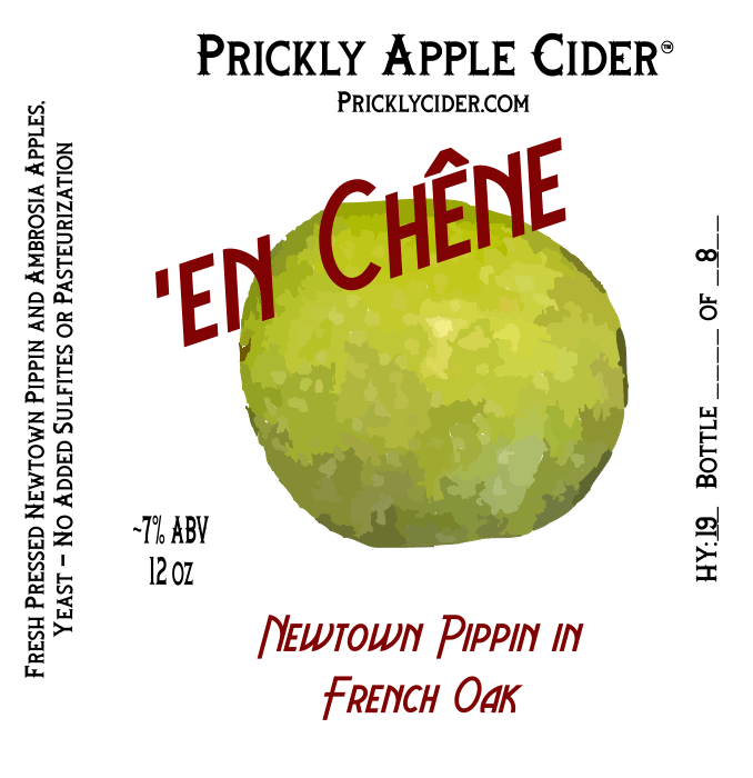En Chêne Hard Cider Label