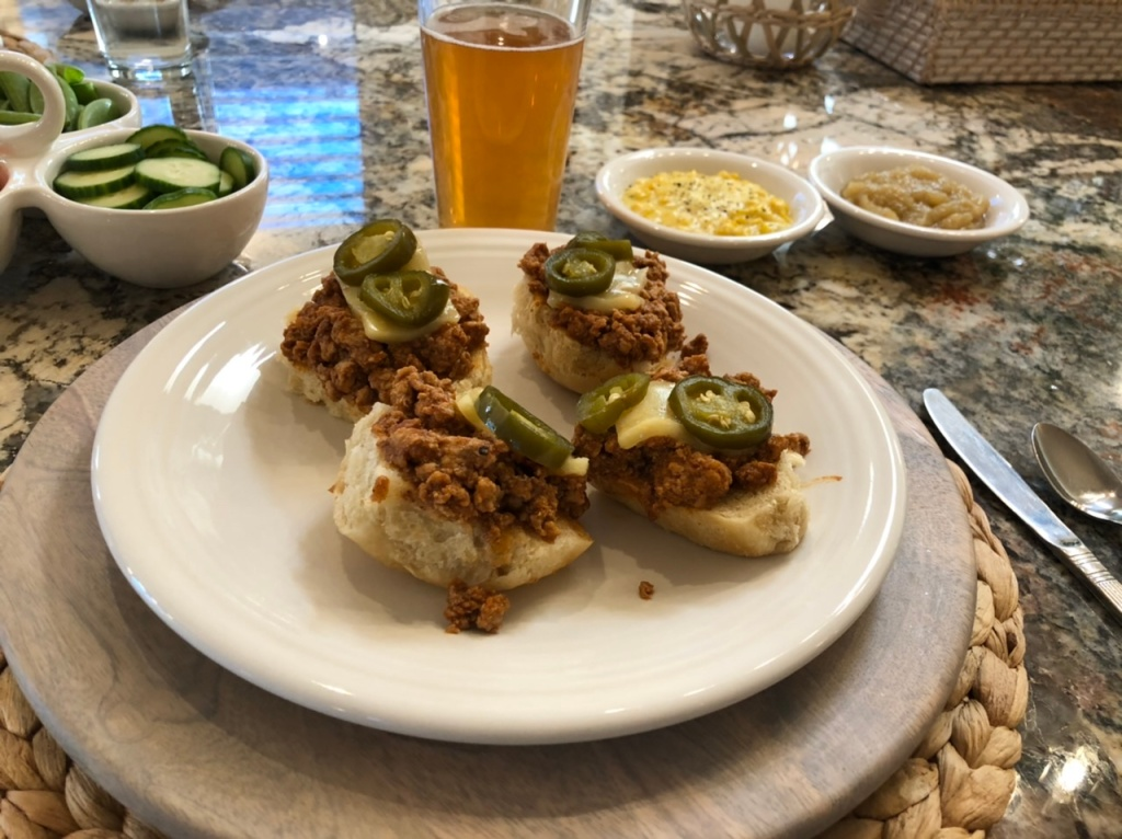 Sloppy Joes: Cream Corn, Apple Sauce, and Hard Cider