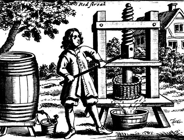 Cider Press from Worlidge's Treatsie of Cider, 1675