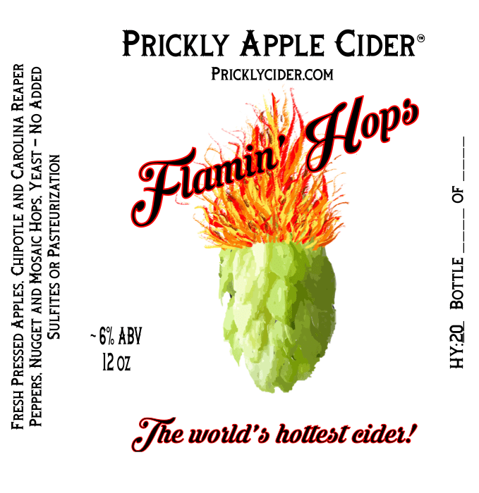 Flamin' Hops Cider Label