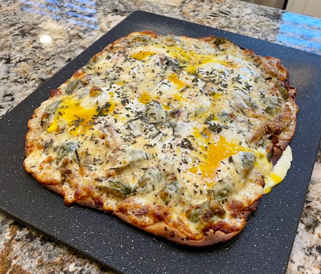 Egg-specially Mesquite Pizza: A plethora of flavors