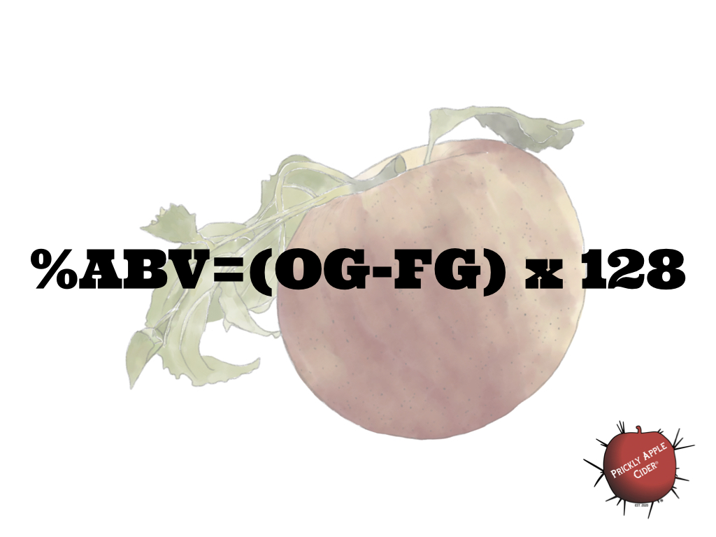 The best equation for calculating hard cider %ABV