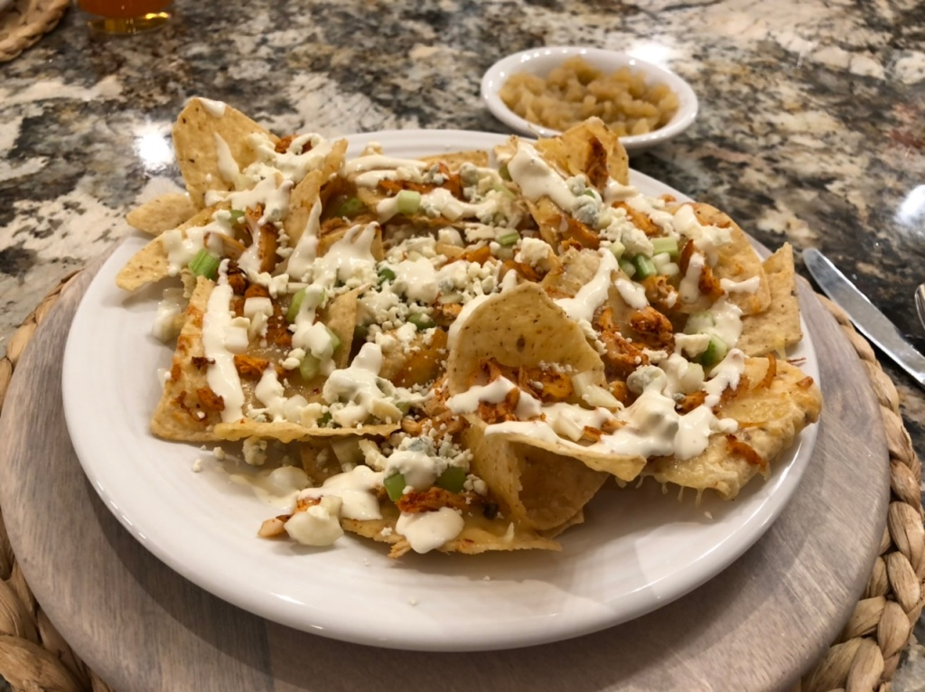 Spicy Buffalo Chicken Nachos