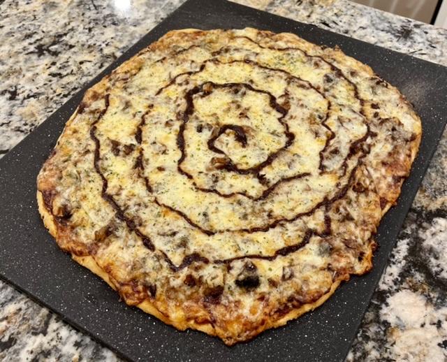 BBQ Rib Pizza With Crumpet Corn Crust