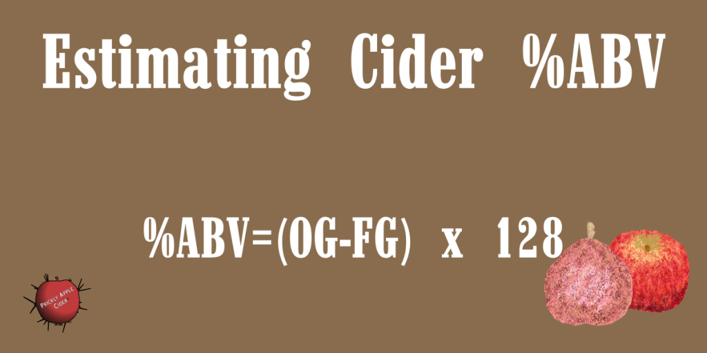 What's the best way to estimate the %ABV of cider?