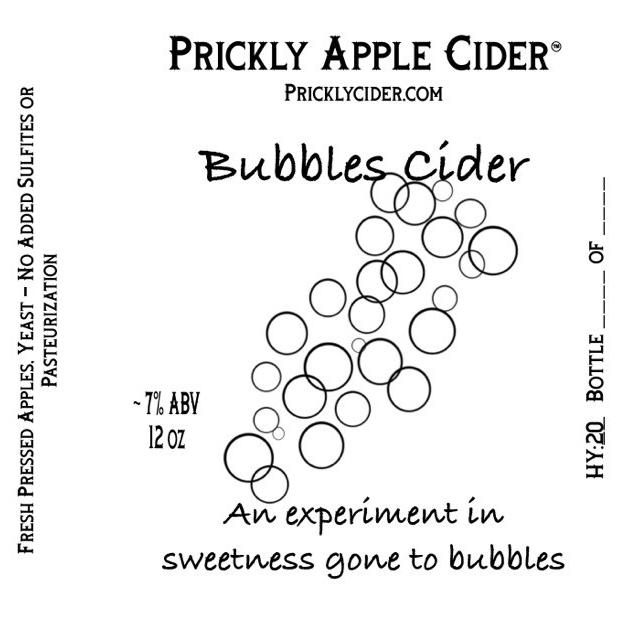 Bubbles Cider Label