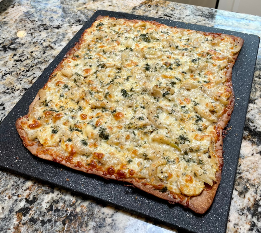 Potato Fennel Pizza on a Rye Sourdough Crust
