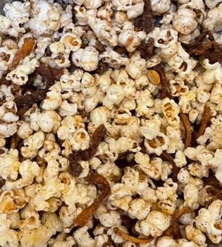 Spicy Peanut Mango Popcorn