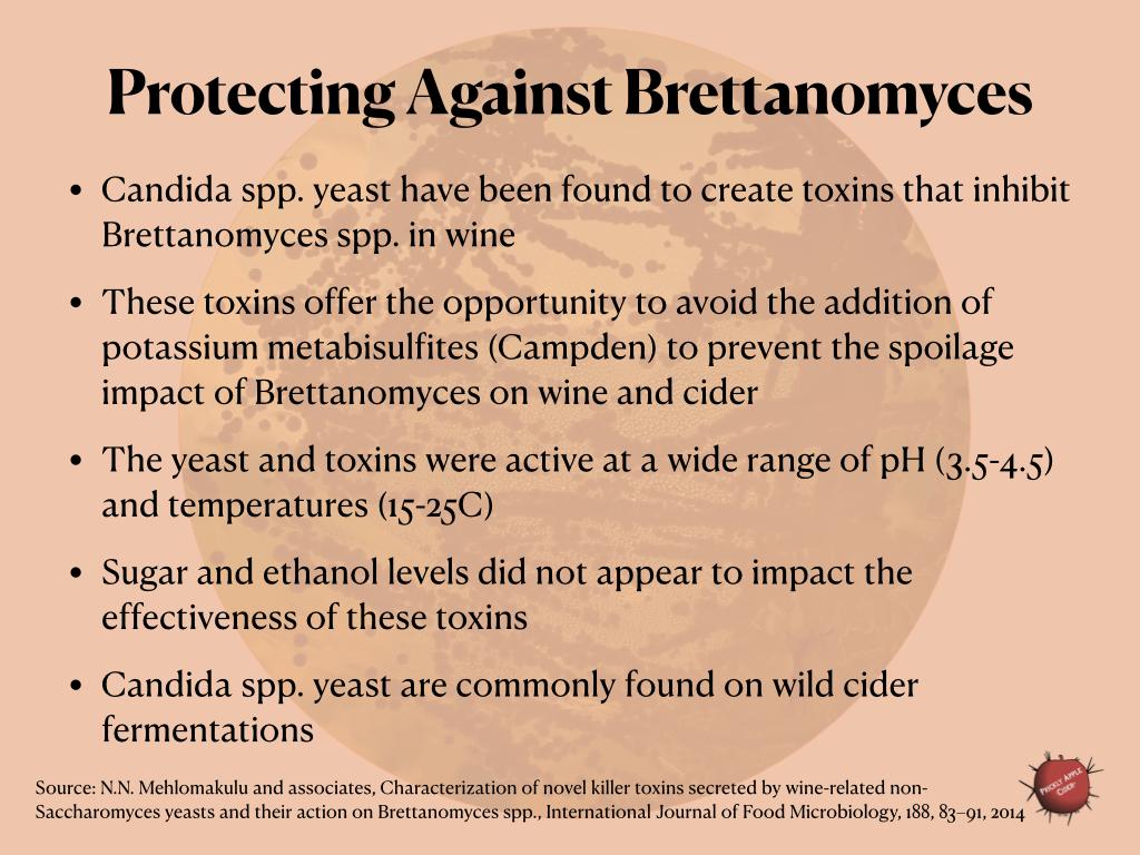 Killer toxins to prevent Brettanomyces spoilage