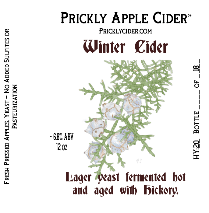 Winter: Lager yeast fermented hot and aged on hickory.