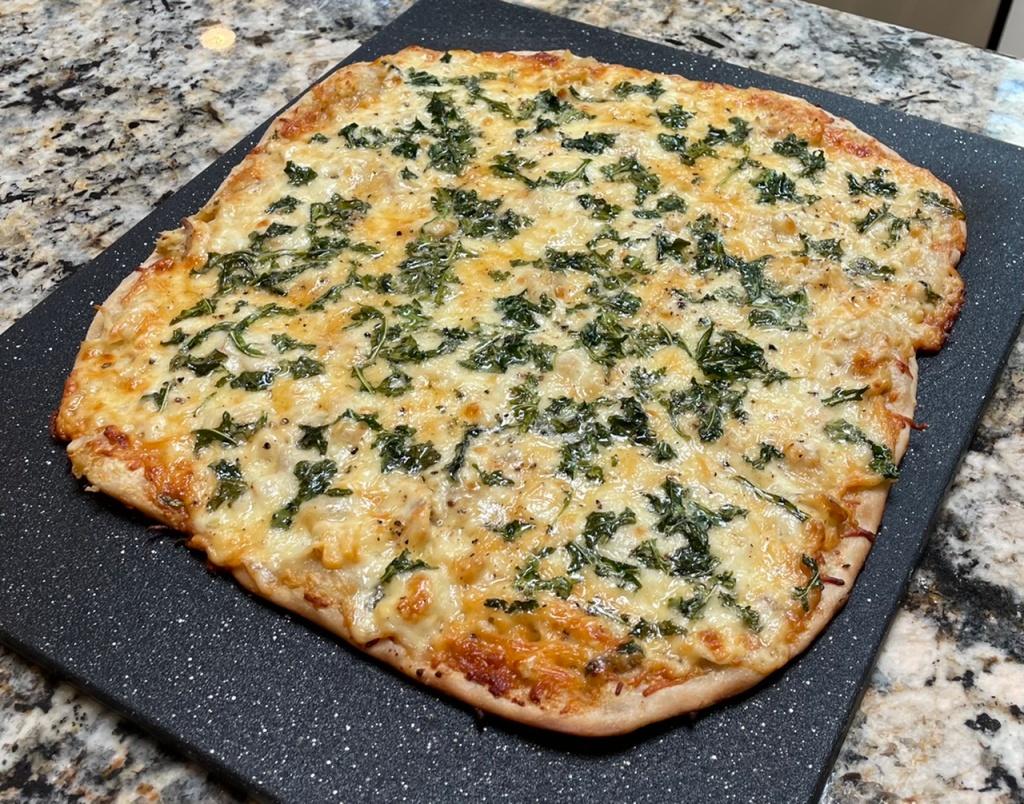 Clam Pizza on a Mango Sourdough Crust