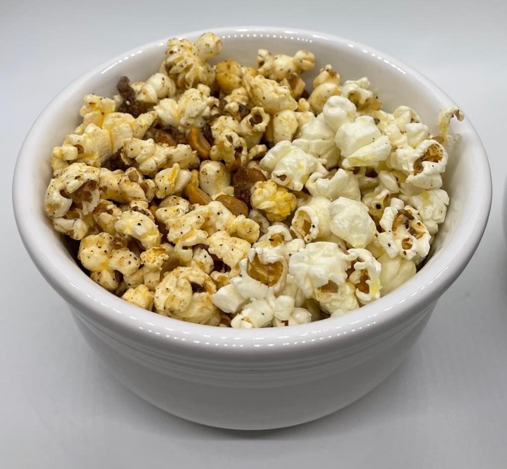 Spicy Peanut Mango & Truffle Parm Popcorn