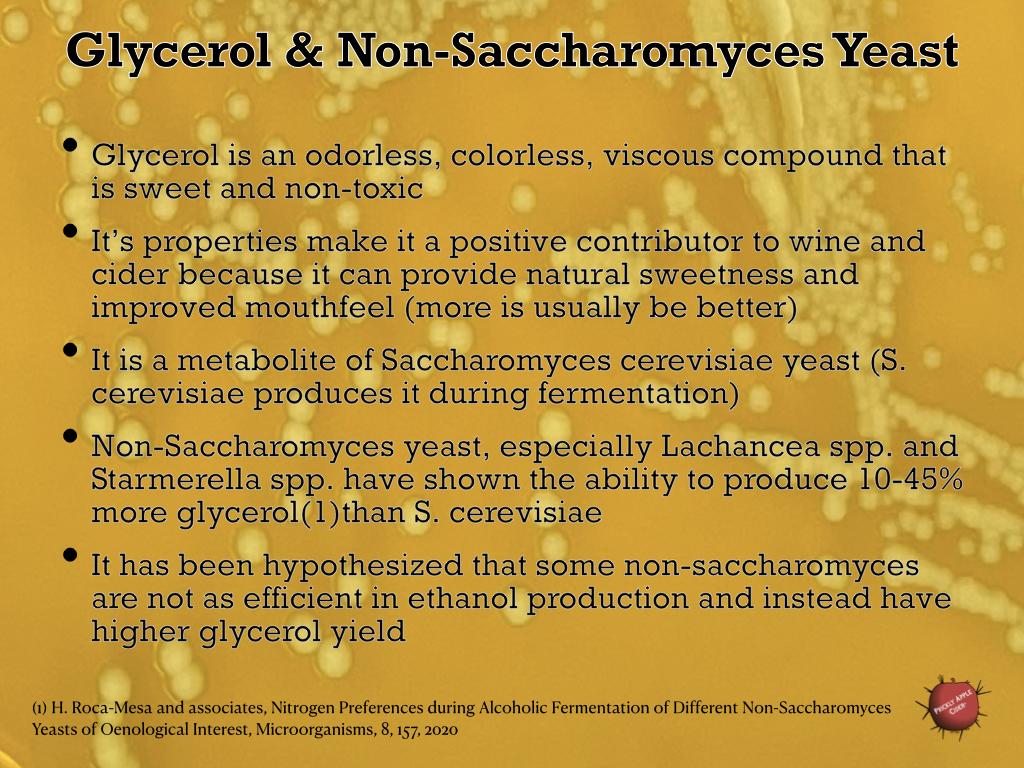 Glycerol & Non-Saccharomyces Yeast