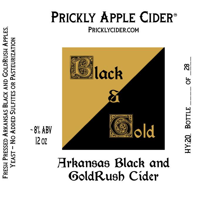 Black & Gold Cider Label