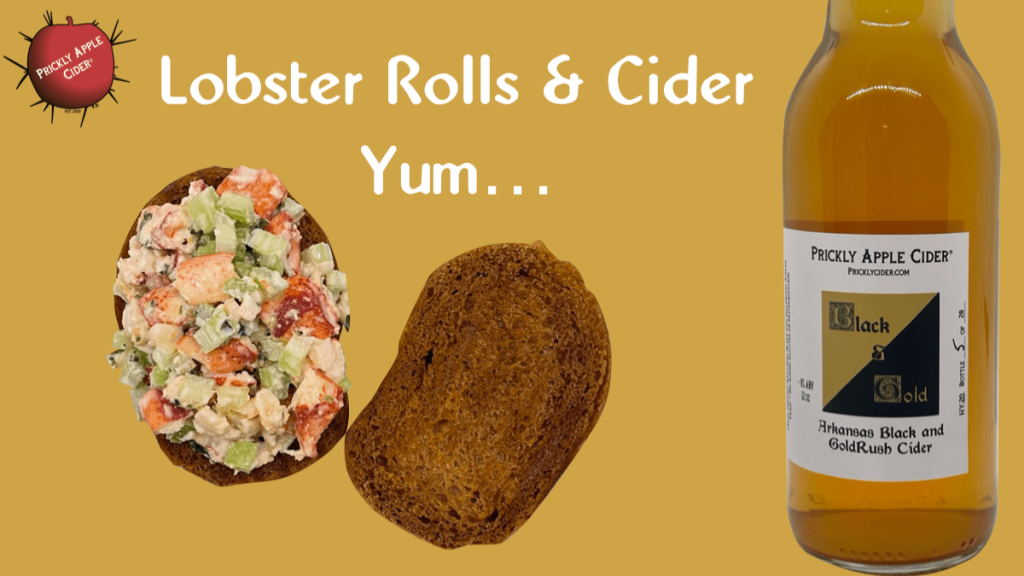 Lobster Rolls and Cider - Yum