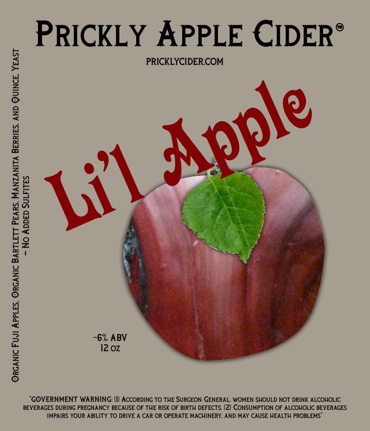 Li'l Apple Cider - A cider crafted with manzanita berries.