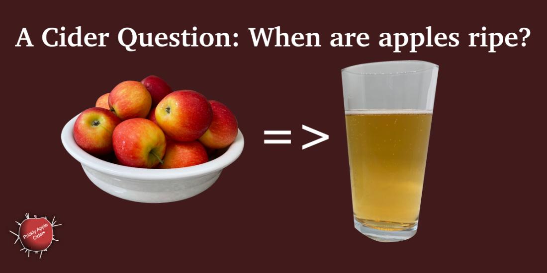 When are apple ripe?